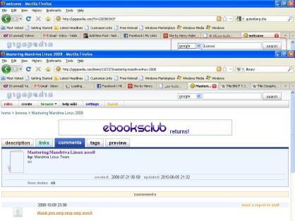 klik tab link